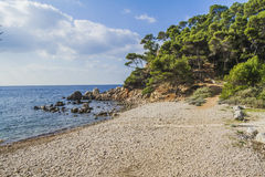 The mediterranean shores. Under the sun of Provence Stock Photo