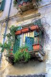Mediterranean shot in HDR. A Mediterranean balcony with plants Royalty Free Stock Photos