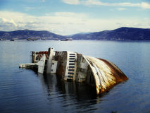 Mediterranean Sky shipwreck Royalty Free Stock Photography