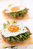 Mediterranean snack with asparagus. stock images