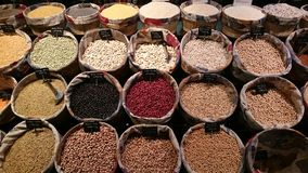 Mediterranean   Spices. Mediterranean colourful spices spanish tapas cuisine Royalty Free Stock Image