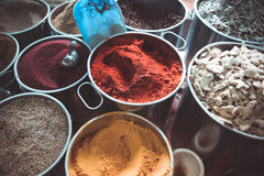 Mediterranean spices. On the market Stock Photos
