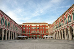 The Mediterranean square, Split, Croatia Royalty Free Stock Images
