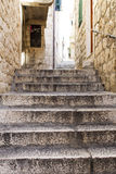 Mediterranean. Stairs and facade of the house in Mediterranean Stock Photo