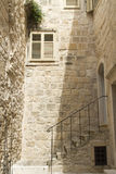 Mediterranean. Stairs and facade of the house in Mediterranean stock images