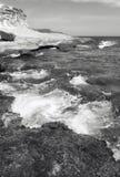 Mediterranean stone coastline in Almeria, Spain Stock Photography