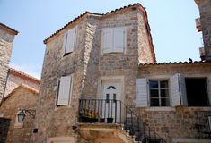 Mediterranean stone medieval house Royalty Free Stock Photos