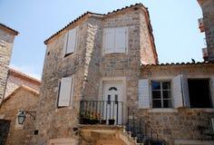 Mediterranean stone medieval house Royalty Free Stock Photos