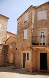 Mediterranean stone medieval house Royalty Free Stock Photography