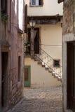 Mediterranean stone streets royalty free stock photography