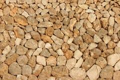 Mediterranean stone wall Stock Photo