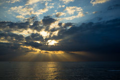Mediterranean stormy sunrise Stock Photos