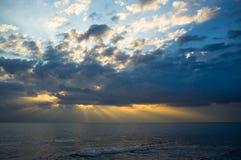 Mediterranean stormy sunset Stock Image
