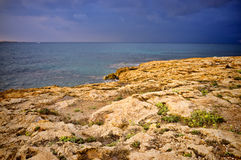 Mediterranean stormy weather Royalty Free Stock Images