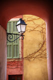 Mediterranean street light Stock Image