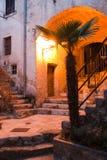 Mediterranean street at night Royalty Free Stock Image