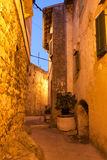 Mediterranean street at night Stock Photos