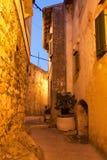 Mediterranean street at night Stock Photos