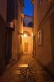 Mediterranean street at night Royalty Free Stock Photography