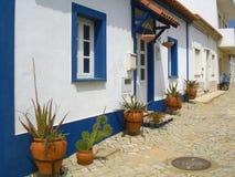 Mediterranean street in Portugal Stock Images