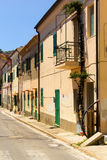 Mediterranean street view Royalty Free Stock Images