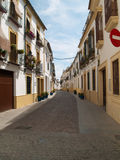 Mediterranean street of white houses Royalty Free Stock Photo
