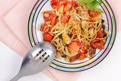 Mediterranean style chicken stir fry Stock Photography