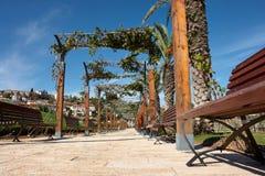 Mediterranean style city park Israel Royalty Free Stock Photo
