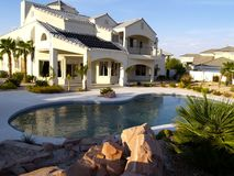 Mediterranean Style Home. In Las Vegas Royalty Free Stock Images