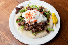 Mediterranean Style Lamb Gyro Stock Images