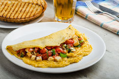 Mediterranean-Style Omlette Royalty Free Stock Photography