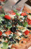 Mediterranean style pizza Royalty Free Stock Photos