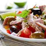 Mediterranean-style rice and tuna salad Stock Images