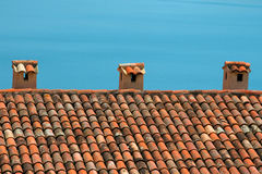 Mediterranean style roof royalty free stock photos