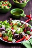 Mediterranean-style Salad Stock Image