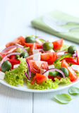 Mediterranean-style salad with feta and olives Royalty Free Stock Image