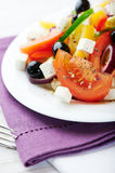 Mediterranean-style salad with goat cheese Stock Photography