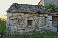 Mediterranean style stone house in Dalmatia abandoned now Royalty Free Stock Image