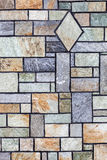 Mediterranean style stone wall Royalty Free Stock Image