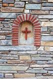 Mediterranean style stone wall Stock Photos