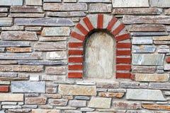 Mediterranean style stone wall Royalty Free Stock Photos