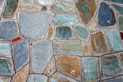 Mediterranean style stone wall Royalty Free Stock Photography