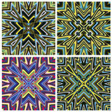 Mediterranean Style Tile Pattern Stock Photos