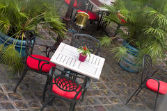 Mediterranean styled terrace Royalty Free Stock Images