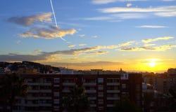 Mediterranean summer resort sunrise,Spain Stock Photo