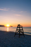 Mediterranean sunrise in Altea beach Stock Photography