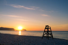 Mediterranean sunrise, Costa Blanca stock photography
