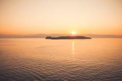 Mediterranean sunrise Stock Image