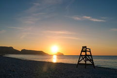 Mediterranean sunrise royalty free stock photo