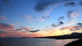 Mediterranean sunset stock footage